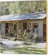 Old Florida Home Wood Print