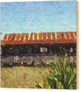 Old Florida Paint Wood Print