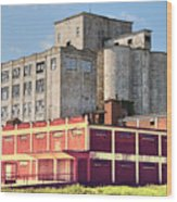 Old Flour Mill Wood Print
