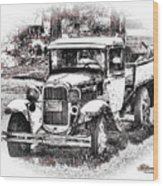 Old Ford Homemade Pickup Wood Print