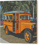Old Ford School Bus No. 32 Wood Print