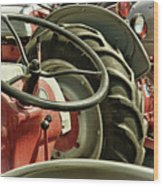 Old Ford Tractors Wood Print