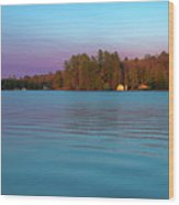 Old Forge Pond Panorama Wood Print