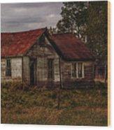 Old Forgotten Farmstead Wood Print