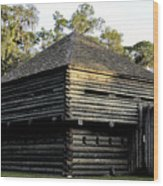 Old Fort Foster Wood Print