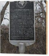 Old Fort Mason Historical Marker Wood Print