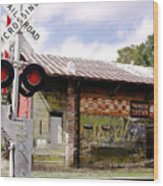 Old Freight Depot Perry Fl. Built In 1910 Wood Print