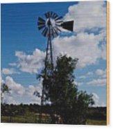 Windmill Color  Wood Print