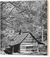 Old Frontier Cabin  Wood Print