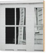 Old Garage Door Wood Print