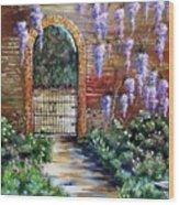 Old Garden Gateway Wood Print