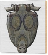 Old Gas Mask Wood Print