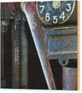Old Gas Pump Wood Print