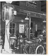 Old Gas Pump Wood Print