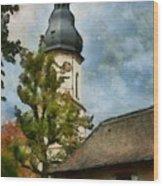 Old German Church Tower Wood Print