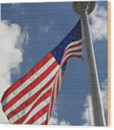 Old Glory 1 Wood Print by Bob Gardner
