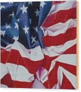 Old Glory  1 Wood Print