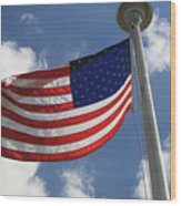 Old Glory 2 Wood Print