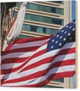 Old Glory In Baltimore Wood Print