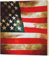 Old Glory Patriot Flag Wood Print