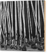 Old Golf Clubs Wood Print