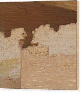 Old Grafitti On Ruin Walls Wood Print