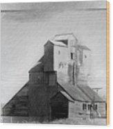 Old Grain Elevator Wood Print
