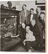 Old Grate That First Burned Anthracite Coal Successfully In The Old Fell House Wilkes Barre Pa Wood Print