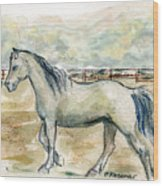 Old Gray Mare Wood Print