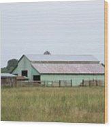 Old Green Barn    Washington State Wood Print