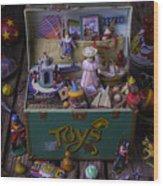 Old Green Toy Box Wood Print