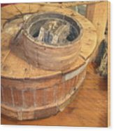 Old Grinding Wheel In A New Environment Wood Print