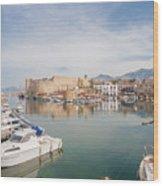 Old Harbour Of  Kyrenia, In Cyprus Wood Print