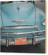 Old Havana Cab Wood Print