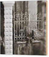 Old Heart Gate Wood Print