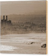 Old Hermosa Beach Wood Print