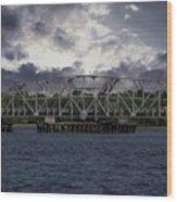 Old Highway 41 Swing Bridge Over The Wando River In Charleston Sc Wood Print