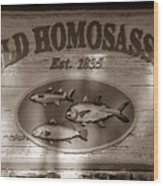 Old Homosassa Wood Print