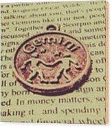 Old Horoscope Of Gemini Wood Print