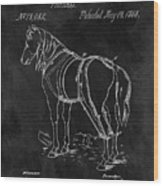 Old Horse Harness Patent  Wood Print