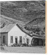 Old House And Foothills Wood Print