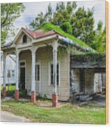 Old House Donaldsonville La-historic Wood Print