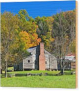 Old House In Cades Cove Tn Wood Print