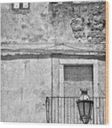 Old House In Taormina Sicily Wood Print