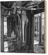 Old House Interior Construction Wood Print