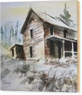Old House Marysville Ghosttown Montana Wood Print