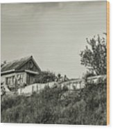 Old House On The Hill Wood Print