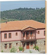 old house Sithonia Greece summer vacation scene Wood Print