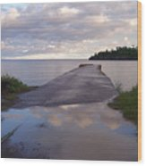 Old Hovland Dock After The Storm Wood Print