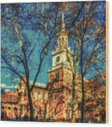 Old Independence Hall Wood Print